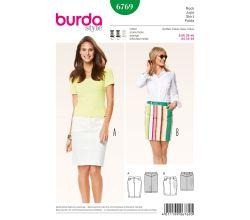 Střih Burda 6769 - Džínová sukně