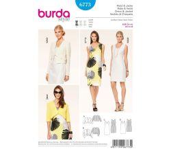 Střih Burda 6773 - Pouzdrové šaty, bolerko, krátké sako