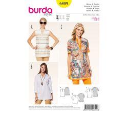 Střih Burda 6809 - Tunika, košile