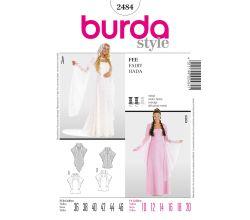 Střih Burda 2484 - Šaty na elfku / vílu