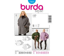 Střih Burda 7422 - Plášť