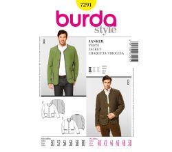 Střih Burda 7291 - Pánské krojové sako