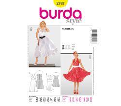 Střih Burda 2393 - Šaty Marilyn, 50. léta