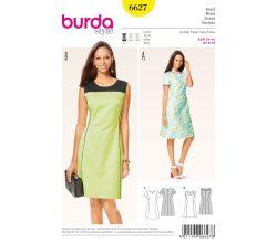 Střih Burda 6627 - Áčkové šaty, šaty Etui