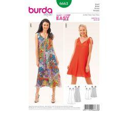 Střih Burda 6663 - Jednoduché letní šaty