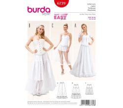 Střih Burda 6739 - Spodnička