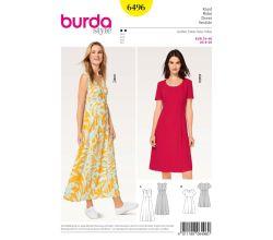 Střih Burda 6496 - Empírové šaty, dlouhé letní šaty