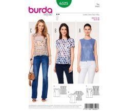 Střih Burda 6525 - Tílko, tričko