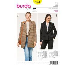 Střih Burda 6463 - Sako, kabátek, oversized