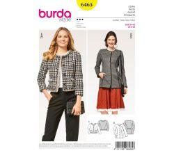 Střih Burda 6465 - Francouzský kabátek, krojové sako, sako bez límce