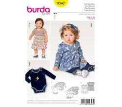 Střih Burda 9347 - Dětské bodýčko, bodýčko se sukní