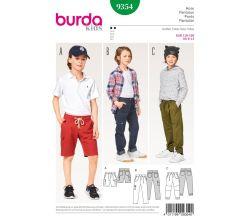 Střih Burda 9354 - Dětské šortky, kalhoty, kapsáče
