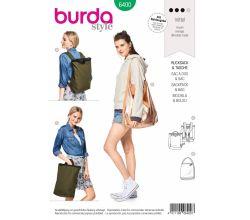 Střih Burda 6400 - Batoh, ruksak, taška na rameno
