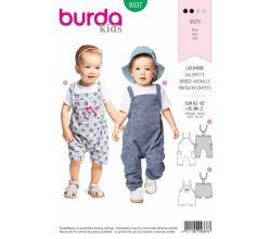 Střih Burda 9337 - Dětské laclové kalhoty, lacláče