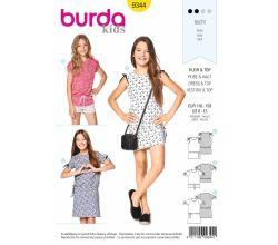 Střih Burda 9344 - Dětské tričko, tričkové šaty