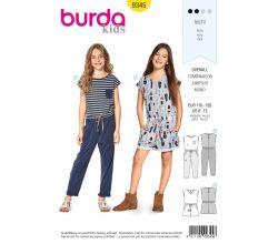 Střih Burda 9345 - Dětský overal