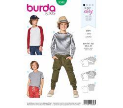 Střih Burda 9346 - Dětské tričko, tričko s dlouhým rukávem