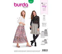 Střih Burda 6357 - Nabíraná sukně, sukně se spodničkou, tylová sukně