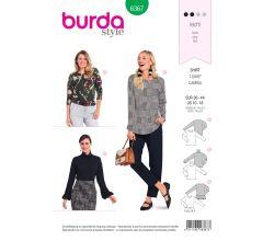 Střih Burda 6367 - Tričko s dlouhým rukávem, rolák