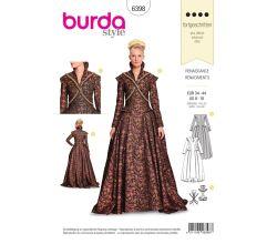 Střih Burda 6398 - Renesanční šaty