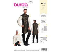 Střih Burda 6399 - Pánský renesanční kostým