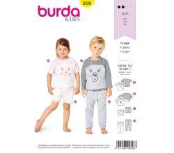 Střih Burda 9326 - Dětské pyžamo