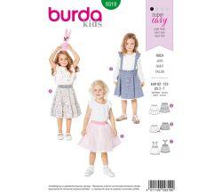 Střih Burda 9319 - Dětská kolová sukně, tylová sukně