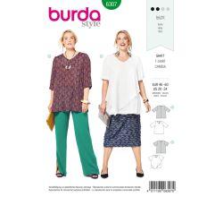 Střih Burda 6307 - Tričko pro plnoštíhlé