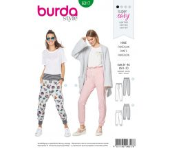 Střih Burda 6317 - Teplákové kalhoty, tepláky
