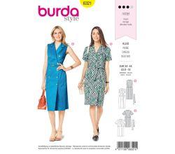 Střih Burda 6321 - Letní šaty, košilové šaty
