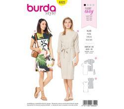 Střih Burda 6322 - Tunikové šaty, tričkové šaty