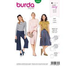 Střih Burda 6328 - Tričko, tričko s dlouhým rukávem