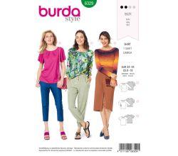 Střih Burda 6329 - žerzejové tričko, volné tričko