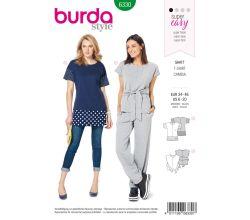 Střih Burda 6330 - Tričko, dlouhé tričko, tunika