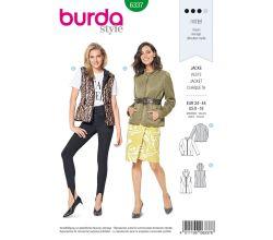 Střih Burda 6337 - Bunda, vesta s kapucí