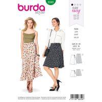 Střih Burda 6340 - Zavinovací sukně, dlouhá sukně