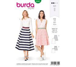 Střih Burda 6342 - Kolová sukně, kruhová sukně, midi sukně