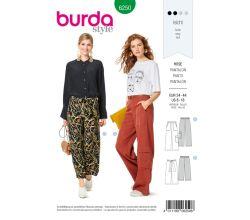 Střih Burda 6250 - Volné kalhoty, kapsáče