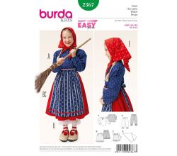 Střih Burda 2367 - Čarodějnice