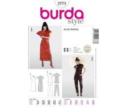 Střih Burda 2773 - Asiatka, Suzi Wong, kimono