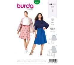 Střih Burda 6247 - Sukně se sklady, áčková sukně
