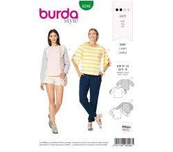 Střih Burda 6246 - Tričko, mikina bez kapuce