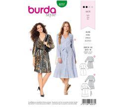 Střih Burda 6237 - Košilové šaty, letní šaty