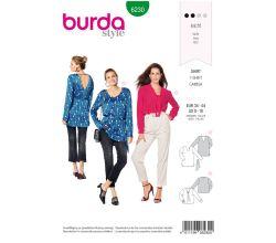 Střih Burda 6230 - Halenka