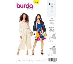 Střih Burda 6226 - Letní kalhoty, lněné kalhoty, šortky