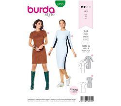 Střih Burda 6210 - Pouzdrové šaty