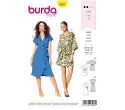 Střih Burda 6207 - Zavinovací šaty, letní šaty