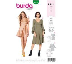 Střih Burda 6205 - Šaty