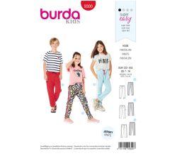 Střih Burda 9300 - Dětské tepláky