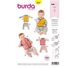 Střih Burda 9297 - Dětská mikina, tepláky
